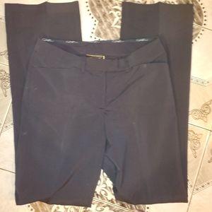 Diane Gilman Blue Silky Stretch Dress Pants 4Tall
